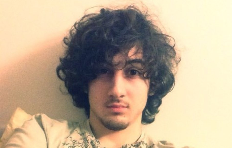 Dzhokhar Tsarnaev. en una foto de su Facebook, antes de los atentados.