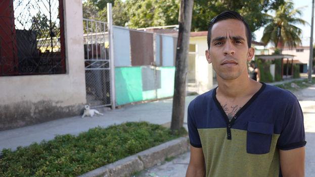 Yuniel López, fotografiado por el sitio 14ymedio.