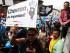 """QUI01. QUITO (ECUADOR), 01/05/2015.- El movimiento oficialista Alianza País, que lidera el presidente Rafael Correa, organiza hoy, viernes 1 de mayo de 2015, una movilización en Quito (Ecuador), en la que pretende demostrar, según el mandatario, que quienes apoyan a su administración son """"muchísimos más"""" que los opositores. Con marchas que prometen ser masivas, el oficialismo y la oposición en Ecuador definen este Primero de Mayo la cancha política de cara a varias medidas gubernamentales internas consideradas polémicas y en previsión a las elecciones presidenciales de 2017. EFE/José Jácome"""
