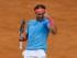 El tenista español Rafa Nadal celebra su victoria tras ganar por 6-4 y 6-3 el partido frente al estadounidense Steve Johnson, de la segunda ronda del torneo Mutua Madrid Open que se celebra estos días en la Caja Mágica. EFE/JuanJo Martín.