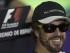 El piloto español Fernando Alonso sonríe durante la rueda de prensa en el circuito de Montmeló, previa a la carrera del GP de España que se celebrará el próximo domingo. EFE/Alejandro García.