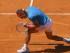 El tenista español Rafa Nadal celebra un punto durante el partido frente al italiano Simone Bolelli, correspondiente a la tercera ronda del torneo de tenis de Madrid que se disputa en la Caja Mágica. Nadal ha vencido por 6-2 y 6-2. EFE/JuanJo Martin.