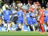 Chelsea's John Terry (no.26) celebrates with his teammates after scoring the 1-0 lead during the English Premier League soccer match between Chelsea FC and Liverpool FC at Stamford Bridge in London, Britain, 10 May 2015. The match ended 1-1. (Londres) EFE/EPA/GERRY PENNY.