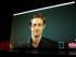 Edward Snowden, en la inauguración de los EDOC. Foto de Miguel Molina para La República.