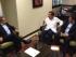 Reunión entre el Canciller Ricardo Patiño y el alcalde de Guayaquil Jaime Nebot. Foto de Diario El Comercio.