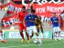Partido entre River Ecuador y Deportivo Cuenca en el estadio Christian Benítez, el 9 de mayo del 2015. Foto API.