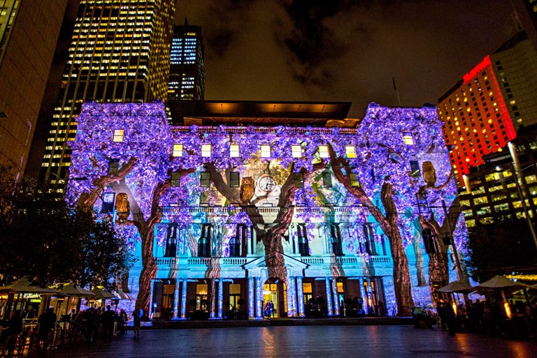 Vivid Sydney 2015, Media Preview at Customs House 21/5/2015. Photo Credit - James Horan/Destination NSW