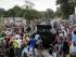 Manifestantes celebran un supuesto golpe de estado en Bujumbura, Burundi, el 13 de mayo del 2015. (AP Foto/Berthier Mugiraneza)