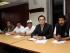 QUITO, 19 DE MAYO DE 2015. Audiencia en la Corte Nacional de Justicia, de los detenidos en las protestas del dia de ayer en Ibarra (18/05/2015), en la foto (i) Roberto Villamar, Irene Ortiz, Mario Landeta, David Rosero y Jaime Villacis. FOTOS API/JUAN CEVALLOS.