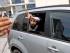 QUITO, 19 DE MAYO DE 2015. David Rosero fue detenido en Ibarra durante las protestas en el edificio del Fondo de Censantias del Magisterio, hoy fue trasladado de la Fiscalía General a la Unidad de Flagracia en la ciudad de Quito. FOTOS API.