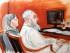 Bosquejo de Jaled al-Fawwaz, ex alto colaborador de Oasma bin Laden (a la derecha) sentado al lado de su defensora Barbara O'Connor durante la selección del jurado en un tribunal federal en Manhattan, el 20 de enero de 2015. El viernes 15 de mayo, un juez lo sentenció a prisión perpetua acusado de participar en los atentados con bomba de 1998 contra las embajadas de Estados Unidos en Kenia y Tanzania en los que murieron 224 personas, entre éstas 12 estadounidenses. (AP Foto/Elizabeth Williams)