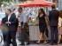 El presidente Barack Obama y su esposa Michelle salen del restaurante de comida mexicana Oyamel, en el centro de Washington, el sábado 30 de mayo de 2015. (Foto AP/Manuel Balce Ceneta)