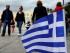 Una pequeña bandera de Grecia ondea en la plaza Syntagma de Atenas, el viernes 29 de mayo de 2015. (Foto AP/Thanassis Stavrakis)