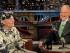 """El actor Bill Murray, izquierda, platica con el presentador David Letterman tras salir de un pastel para despedirse el martes 19 de mayo de 2015, en el set de """"Late Show with David Letterman"""" en Nueva York. (John Paul Filo/CBS via AP)"""