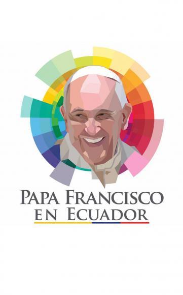 Logo oficial del gobierno del Ecuador por la visita del Papa Francisco.