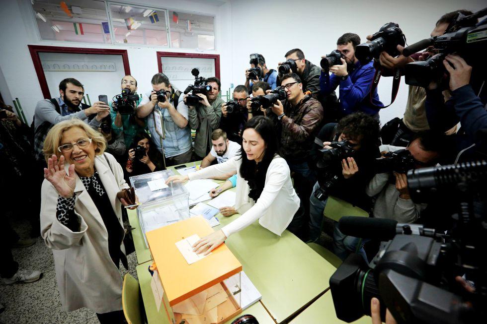 Manuela Carmena, apoyada por Podemos, candidata a la alcaldía de Madrid.