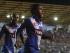 MANTA, 19 DE ABRIL DEL 2015. En el estadio Jocay, Emelec enfrenta a Tigres (México), por la ida de los cuartos de final de la Copa Libertadores. Gol de Miller Bolaños. API FOTO / ARIEL OCHOA