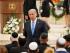 En esta imagen de archivo del 22 de abril de 2015, el primer ministro israelí Benjamin Netanyahu baja del estrado tras intervenir en la ceremonia del Día del Recuerdo en memoria de los soldados caídos, en el cementerio del Monte Herzl en Jerusalén. Netanyahu ha completado la formación de un nuevo gobierno de coalción, se informó el miércoles 6 de mayo de 2015. (Ammar Awad/Pool foto vía AP, archivo)