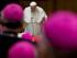 El papa Francisco durante la sesión inaugural de la conferenia de obispos italianos en el Vaticano el 18 de mayo del 2015. (AP Foto/Alessandra Tarantino)