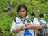 Estudiantes participan en el Plantataón, en el Cerro Colorado, cerca de Guayaquil, el 16 de mayo de 2015. API/Marcos Pin