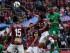 QUITO 23 DE MAYO DE 2015. Deportivo Quito vs Mushuc Runa en la foto Dennys Quiñones  (Quito) y Felix Borja (Mushuc Runa) . FOTOS API/JUAN CEVALLOS.