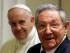 El papa Francisco observa al presidente cubano Raúl Castro durante una audiencia privada en el Vaticano, el domingo 10 de mayo de 2015. (Foto AP/Gregorio Borgia, Pool)