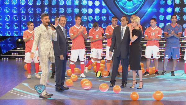 Daniel Scioli durante el programa. Foto: Showmatch