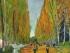 """Fotografía sin fecha proporcionada por la casa de subastas Sotheby's muestra la pintura de Vincent van Gogh """"L'Allée des Alyscamps"""", la cual se vendió el martes 5 de mayo de 2015 en 66,3 millones de dólares en una subasta en Nueva York. (Foto Sotheby's vía AP)"""