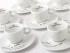 Esta imagen distribuida por Illy North America muestra una colección de tazas de café expreso con sus platos llamados Yoko Ono: Mended Cups - illy Art Collection. (Lou Manna/Illy North America via AP)