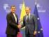 Bruselas (Bélgica), 9 jun 2015.- El Presidente de la República, Rafael Correa, fue recibido por Donald Tusk, presidente del Consejo Europeo, dentro del marco de la II Cumbre UE - Celac. Foto: Eduardo Santillán / Presidencia de la República