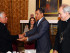 Quito (Pichincha), 29 junio 2015.- El Presidente de la República, Rafael Correa, mantuvo un almuerzo con representantes de la Iglesia y periodistas en el Palacio de Carondelet. Foto: Carlos Silva / Presidencia de la República.