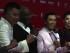 """SHANGHAI (CHINA), 13/06/2015.- El exboxeador estadounidense Mike Tyson (2i) junto al productor de la película china """"Ip Man 3"""", en la que aparece, Raymond Wong (i), junto al protagonista de la cinta, el artista hongkonés de artes marciales Donnie Yen (2d), durante su asistencia al Festival de Cine de Shanghai. EFE/José Álvarez Díaz"""