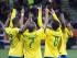 Jugadores brasileños celebran un gol contra Senegal con su afición durante el partido de semifinales entre Brasil y Senegal en el Mundial defútbol sub-20 en Christchurch (Nueva Zelanda) hoy, miércoles 17 de junio de 2015. EFE/David Alexander.