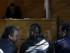 El futbolista chileno Arturo Vidal (c) es formalizado hoy, miércoles 17 de junio de 2015, por conducción en estado de ebriedad en el Juzgado de Guardia de San Bernardo, en Santiago (Chile). Vidal fue detenido tras sufrir un accidente en su vehículo en la noche de este martes mientras regresaba a la concentración de su selección en el marco de la Copa América 2015. EFE/Felipe Trueba.