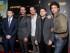 """Kevin Connolly, de izquierda a derecha, Jeremy Piven, Kevin Dillon, Jerry Ferrara y Adrian Grenier en una función especial de """"Entourage"""" en The Paris Theater el miércoles 27 de mayo de 2015 en Nueva York. (Foto Andy Kropa/Invision/AP)"""