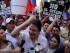 El líder de CREO, Guillermo Lasso, en la marcha del 12 de junio, en Guayaquil. API