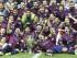 Foto de archivo. BERLÍN (ALEMANIA), 06/06/2015.- Los jugadores del FC Barcelona posan con la Copa de Europa que consiguieron tras derrotar en la final a la Juventus de Turín por el resultado de 1-3 en el partido que ambos equipos disputaron esta noche en el estadio Olímpico de Berlín, logrando su quinto título de la Liga de Campeones . EFE/Andreu Dalmau