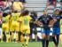 Jugadoras de Camerún (i) celebran su tercer gol ante Ambar Torres (2d) de Ecuador hoy, lunes 8 de junio de 2015, durante la Copa Mundial de Fútbol Femenino, en Vancouver (Canadá). EFE/NICK DIDLICK.