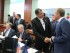 El presidente Rafael Correa en la jornada de cierre de la Cumbre UE - Celac; a su llegada saludó con Donald Tusk, presidente del Consejo Europeo. Foto: Eduardo Santillán / Presidencia de la República