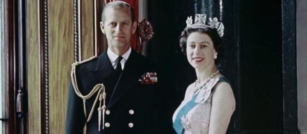 La reina Isabel y el duque de Edimburgo en 1957.