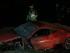 SANTIAGO (CHILE), 16/06/2015. Fotografía del vehículo accidentado marca Ferrari del futbolista chileno Arturo Vidal hoy, martes 16 de junio de 2015, en la ruta 5, al sur de Santiago (Chile). El futbolista chileno Arturo Vidal tuvo este martes un accidente de tráfico cerca de Santiago y fue atendido en un hospital por heridas leves. EFE/Elvis González
