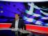 El primer ministro griego, Alexis Tsipras, se prepara para una entrevista en la televisora estatal del país, ERT, en Atenas, el 29 de junio de 2015. (Foto AP/Thanassis Stavrakis)