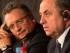 Foto de archivo del 16 de febrero de 2015 en la que aparecen el secretario general de la FIFA Jerome Valcke (izquierda) y el ministro de Deportes de Rusia Vitaly Mutko durante una rueda de prensa en St. Petersburg, Rusia. (AP Foto/Dmitry Lovetsky, File)