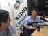 El líder de CREO, Guillermo Lasso, durante una entrevista en Radio Cristal, en Guayaquil, el 9 de mayo de 2015. Foto de su página de Facebook.