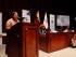 Rigoberta Mench{u durante su conferencia. Foto. Asamblea Nacional