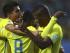 RANCAGUA (CHILE), 19/06/2015.- El centrocampista ecuatoriano Miller Alejandro Bolaños (c) celebra su gol, primero del equipo, con sus compañeros, durante el partido México-Ecuador, del Grupo A de la Copa América de Chile 2015, en el Estadio El Teniente de Rancagua, Chile, hoy 19 de junio de 2015. EFE/Osvaldo Villarroel