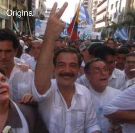 Foto presentada el lunes 29 de junio por el alcalde de Guayaquil Jaime Nebot.