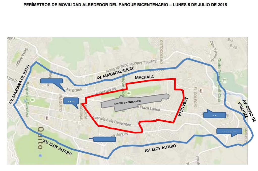 Foto difundida por el Municipio de Quito.