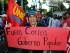 Guayaquil 24 de junio del 2015. El FUT y el movimiento Unidad Popular, realizaron una marcha a lo largo de la avenida 9 de Octubre, en rechazo a las medidas económicas del régimen. Fotos: Marcos Pin / API