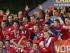 Serbia festeja su triunfo sobre Brasil 2-1 en la final del Mundial Sub 20 de fútbol en Auckland, Nueva Zelanda, sábado 20 de junio de 2015. (AP Foto/David Rowland)